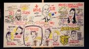 Caricatura Panoplia de Ponentes del FOA 2016